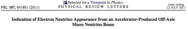 The title of the appearance paper as it appeared in Physical Review Letters
